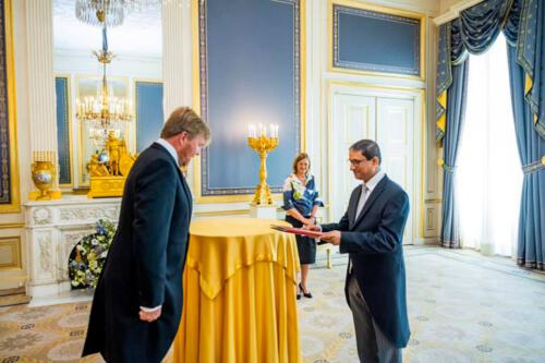Ambassador's Credentials Presentation to His Majesty the King.