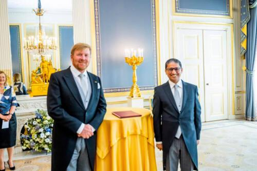 H. E. M Riaz Hamidullah, Ambassador of Bangladesh to the Kingdom of the Netherlands has presented Credentials to His Majesty the King.